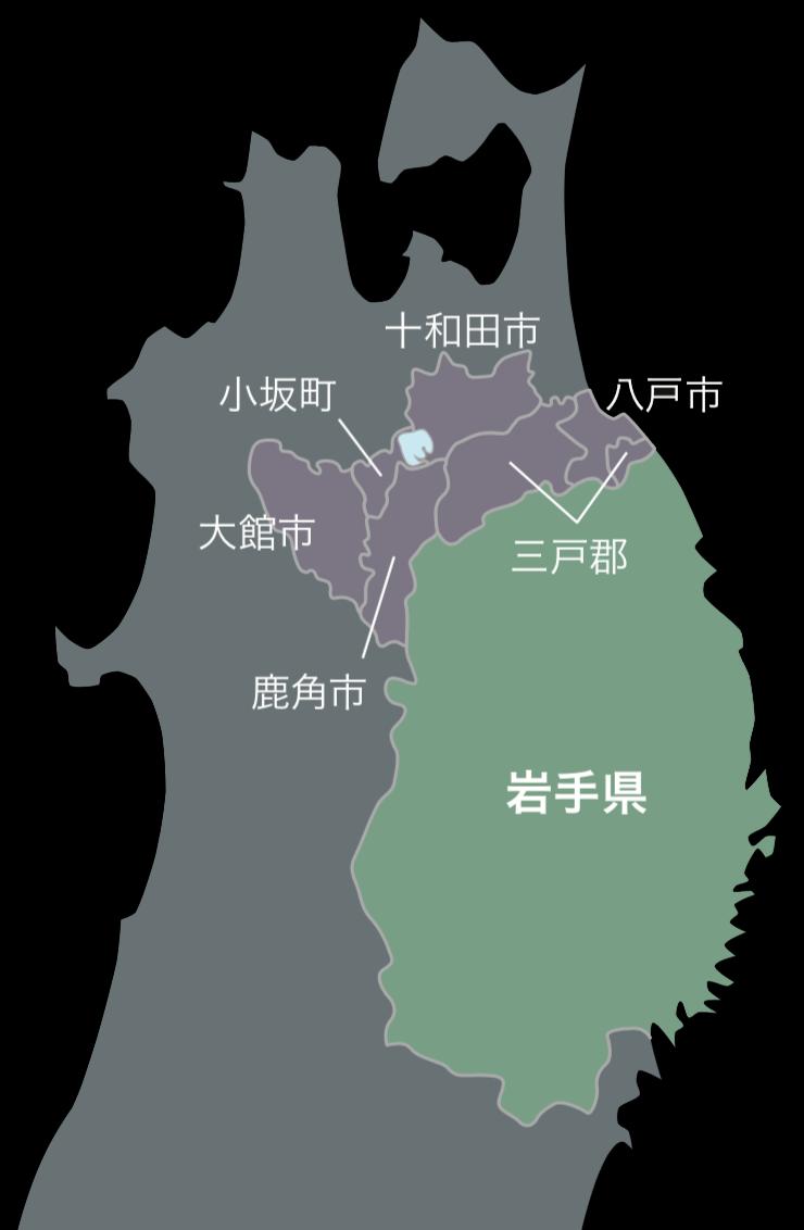 浄法寺地図
