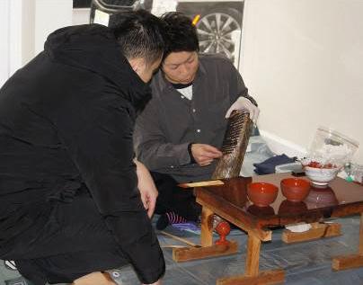 (Ⅲ)浄法寺漆および浄法寺塗、日本酒についてのセミナー、実演(12月7日))