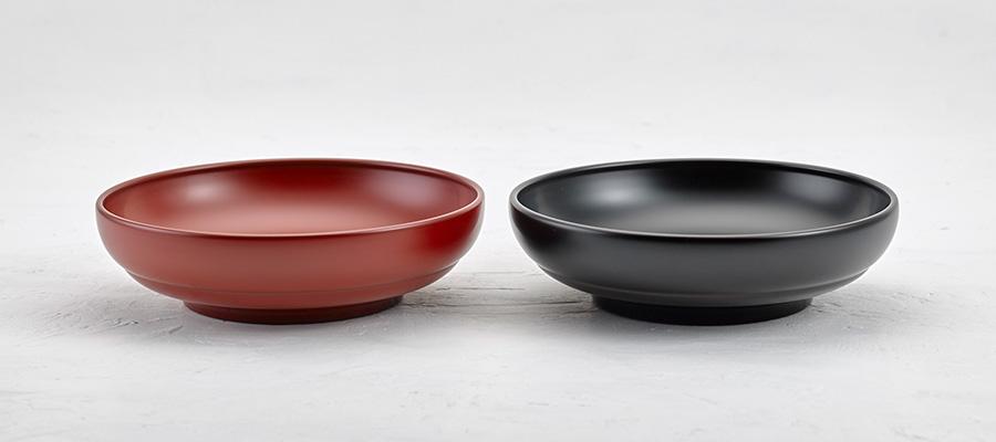 七寸平丸鉢(朱 / 溜)