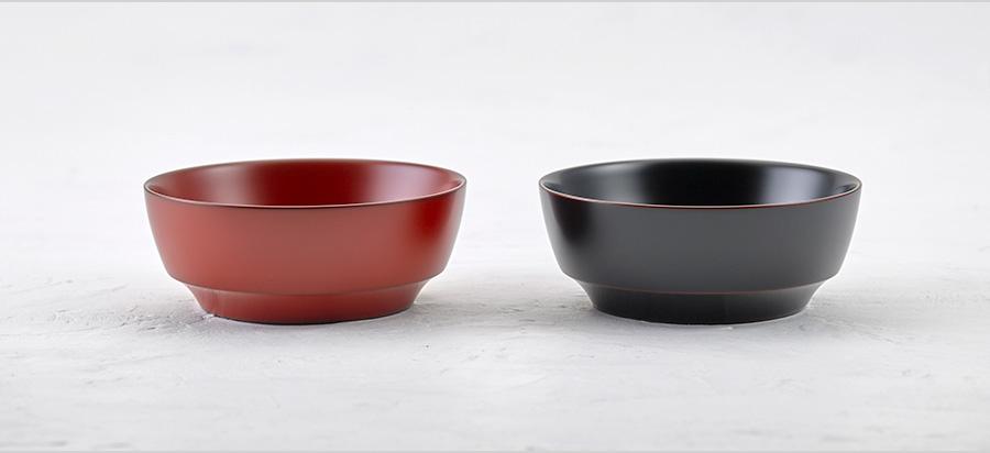 平鉢(朱 / 溜)